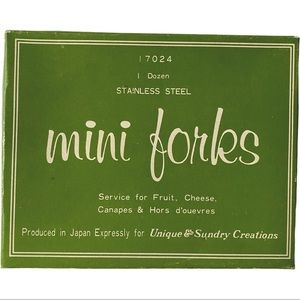 Vintage Mini Forks Hors d'oeuvres Appetizer Set
